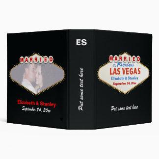 Las Vegas sign destination wedding photo binder