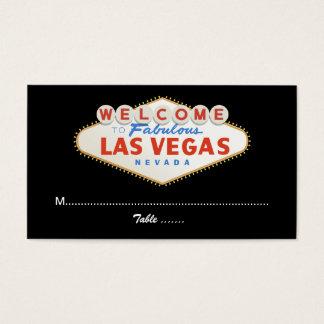 Las Vegas sign destination wedding place card