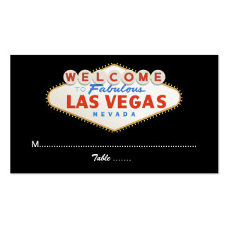 Las Vegas sign destination wedding place card Business Card