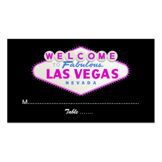 Las Vegas sign destination wedding place card Double-Sided Standard Business Cards (Pack Of 100)