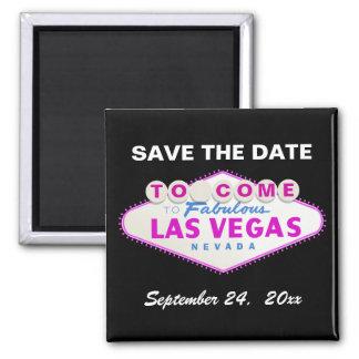 Las Vegas sign destination wedding Save the Date 2 Inch Square Magnet