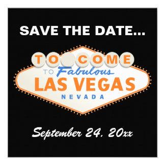 Las Vegas sign destination wedding Save the Date Personalized Announcements