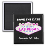 Las Vegas sign destination wedding Save the Date Magnets