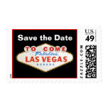 Las Vegas sign destination wedding Save the Date Postage Stamps