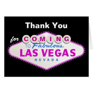 Las Vegas sign destination wedding Thank You Stationery Note Card