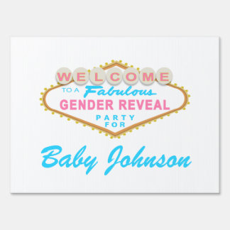 Las Vegas Sign Gender Reveal Party Sign