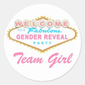 Las Vegas Sign Gender Reveal Team Girl Stickers