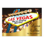 Las Vegas Sign Informal Fun Wedding Card