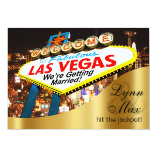 Las Vegas Sign Informal Fun Wedding Card