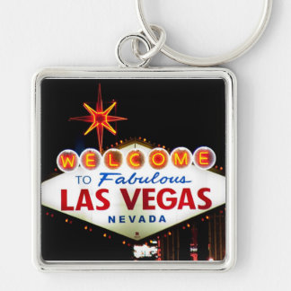 Las Vegas Sign keychain square