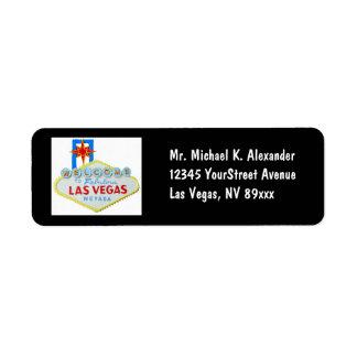 Las Vegas Sign Return Address Label