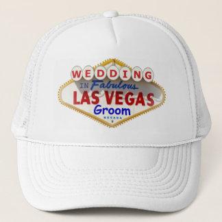 "Las Vegas Sign Logo Groom Cap ""WEDDING"""
