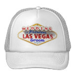 "Las Vegas Sign Logo Groom Cap ""WEDDING"" Hats"