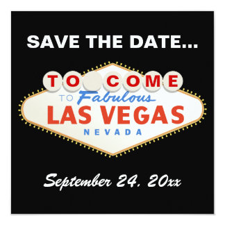 Las Vegas sign modern wedding Save the Date Card