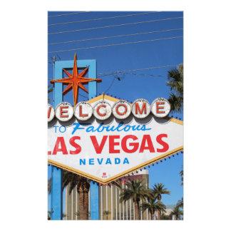 Las Vegas Sign Nevada Casino Gambling Landmark Stationery