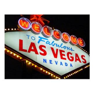 Las Vegas Sign Night time Postcard