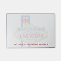 Las Vegas Sign personalized sticky notes