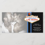 """Las Vegas Sign Photo Wedding Marriage Announcement<br><div class=""""desc"""">Are you a jet setting couple who just got married in Las Vegas? Announce your happy news with our Wedding in Las Vegas Sign design. The design features a cute Las Vegas sign graphic in the signature blue and red colors. This design is so fun... it&#39;s almost sinful. Personalize the...</div>"""
