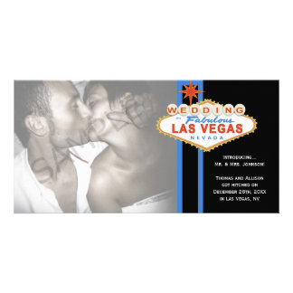 Las Vegas Sign Photo Wedding Marriage Announcement