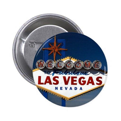 Las Vegas Sign Pinback Buttons