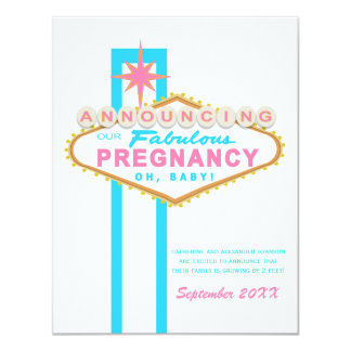 Las Vegas Sign Pregnancy Announcement