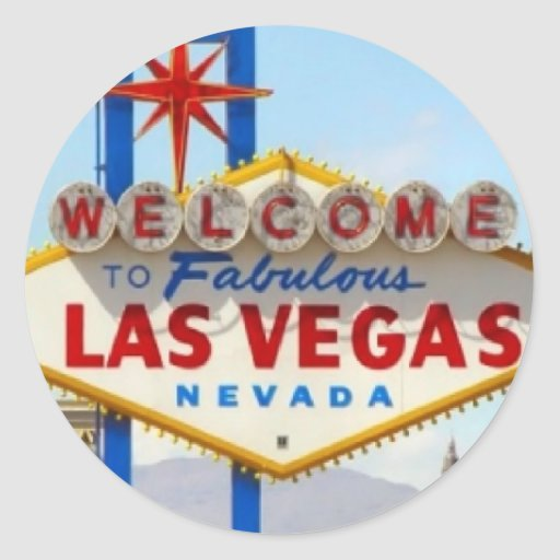 Las vegas sign sticker zazzle for Arts and crafts stores in las vegas
