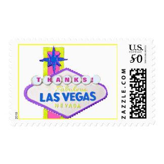 Las Vegas Sign Thank You Postage