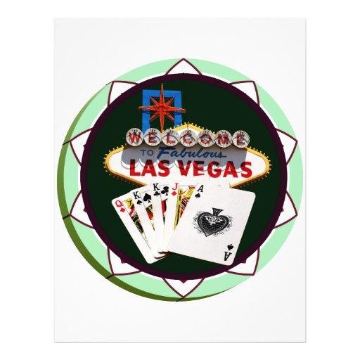 Las Vegas Sign & Two Kings Poker Chip Flyers