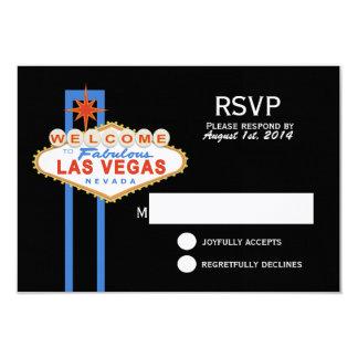Las Vegas Sign Wedding Response Card
