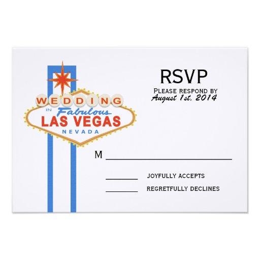 Las Vegas Sign Wedding Response Card Custom Invitation
