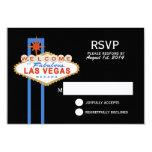 Las Vegas Sign Wedding Response Card Invitations