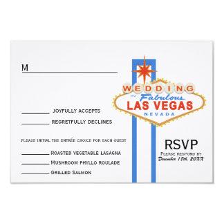 Las Vegas Sign Wedding Response Card (with menu) Custom Invitations