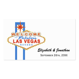 Las Vegas Sign Wedding Website Cards Business Cards