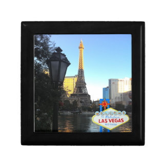 Las Vegas Sign with Eiffel Tower Gift Box