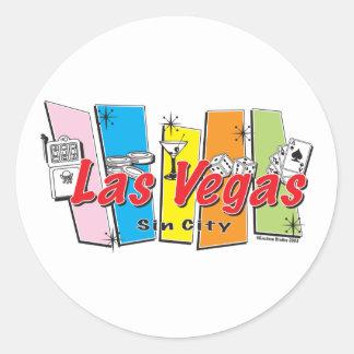 Las-Vegas-Sin-City Classic Round Sticker