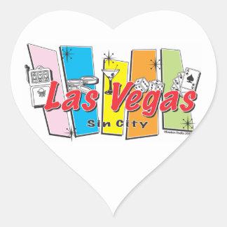 Las Vegas Sin City Heart Sticker