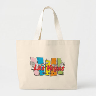 Las-Vegas-Sin-City Large Tote Bag