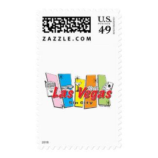 Las-Vegas-Sin-City Postage Stamp