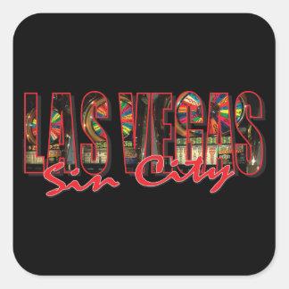 Las Vegas Sin City Square Sticker