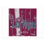 Las Vegas Sin City Tarjeta Postal