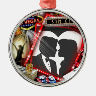 Las Vegas Sin City wedding Design Metal Ornament