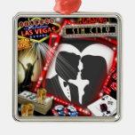 Las Vegas Sin City wedding Design Silver-Colored Square Decoration