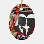 Las Vegas Sin City wedding Design Ceramic Oval Decoration