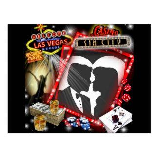Las Vegas Sin City wedding Design Postcard