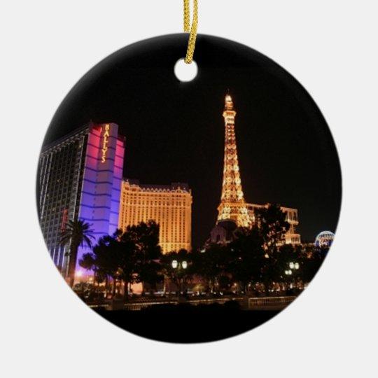 Las Vegas Skyline Ceramic Ornament