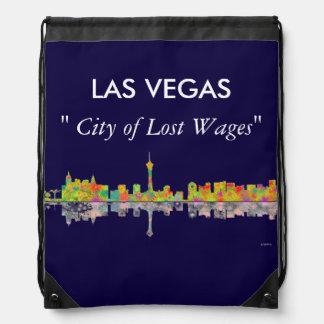 Las Vegas Skyline Drawstring Backpack