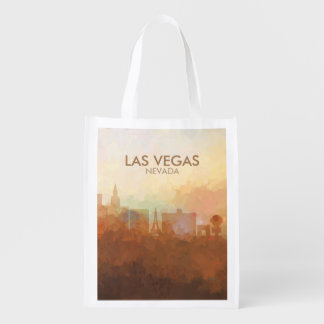 Las Vegas Skyline IN CLOUDS Grocery Bag
