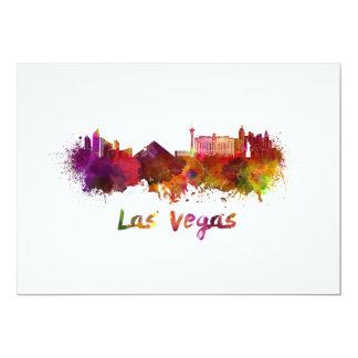 Las Vegas skyline in watercolor Card