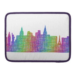 Las Vegas skyline Sleeve For MacBooks