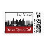 Las Vegas Skyline Stamp -  Save the Date - Red
